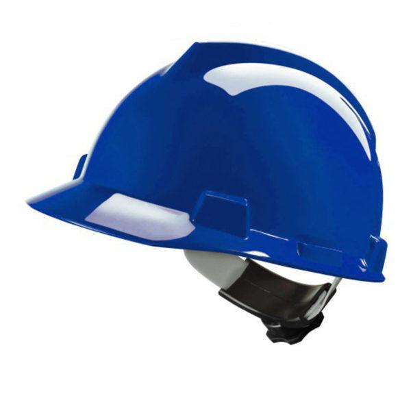 Helm-MSA- V-Gard-Blauw