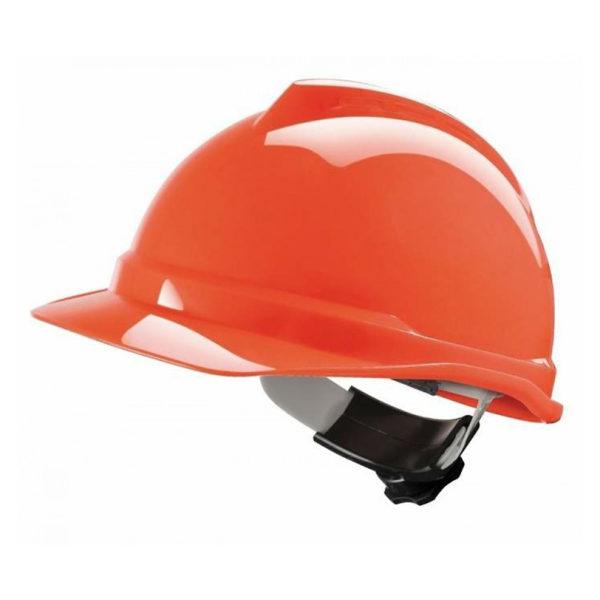 Helm-MSA- V-Gard-Oranje