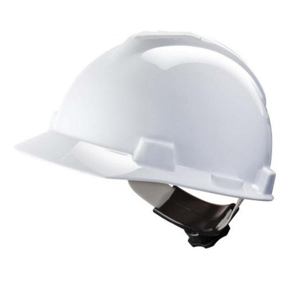 Helm-MSA- V-Gard-Wit