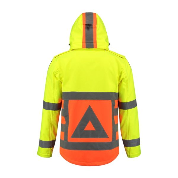 Tricorp-SOFTSHELL-VR orangeyellow back