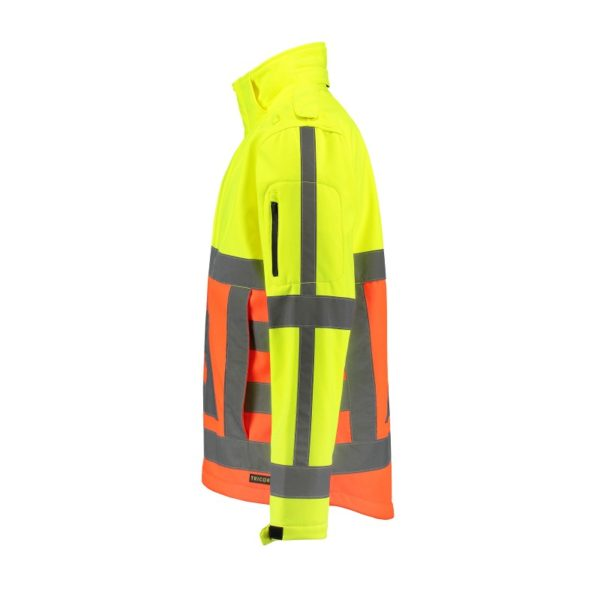 Tricorp-SOFTSHELL-VR orangeyellow side