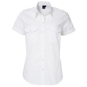 uniformblouse-myrthe-korte mouw-getailleerd