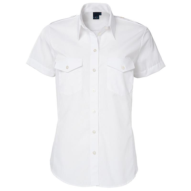 witte blouse korte mouw