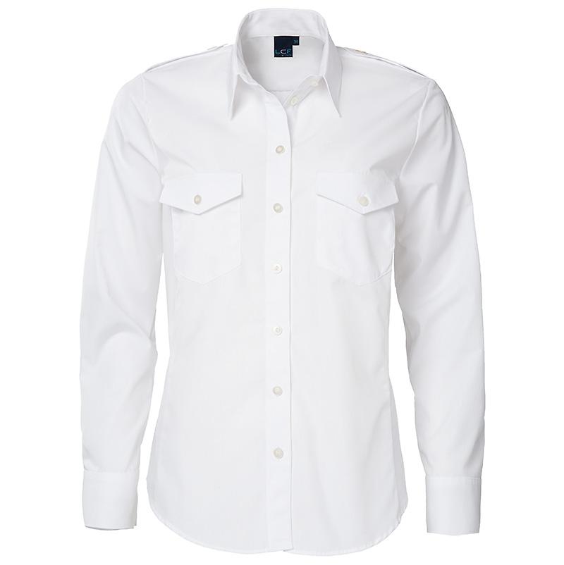 uniformblouse-myrthe-lange mouw-getailleerd