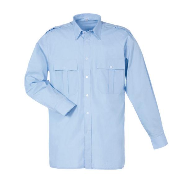 Uniformshirt-Bleu-Epauletten