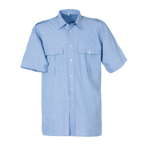 Uniformshirt-bleu-korte mouw