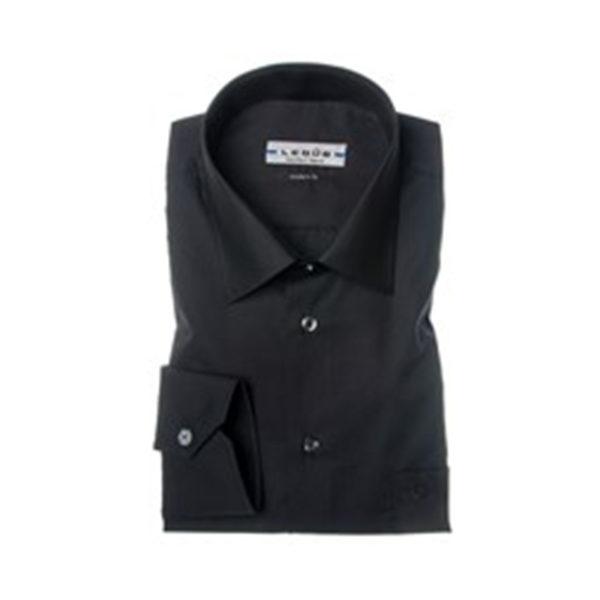 overhemd-ledub-zwart-modern-fit