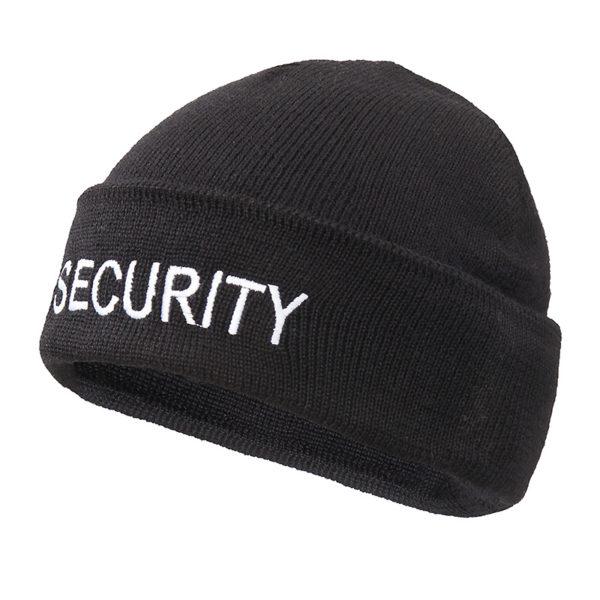 muts-wol-zwart-geborduurd-security